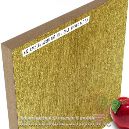 Panou MDF Răchită auriu Y02 mat 3D Ișik