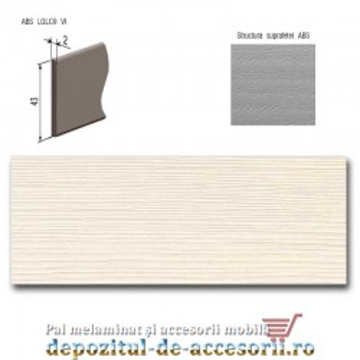 Cant ABS Woodline crem 43mm x 2mm Compatibil Pal Melaminat Woodline crem Egger H1424 ST22