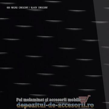Panou MDF Negru Crescent 669 super lucios AGT high gloss