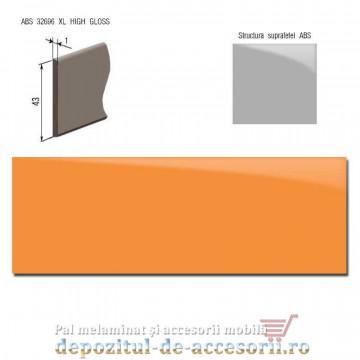 Cant ABS Portocaliu 43mm x 1mm super lucios (high gloss)
