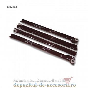 Glisiere cu role 350mm maro extragere parțială Blum 230M3500