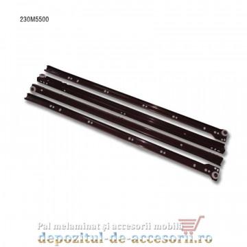 Glisiere cu role 550mm maro extragere parțială Blum 230M5500