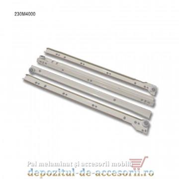 Glisiere cu role 400mm albe extragere parțială Blum 230M4000
