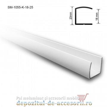 Profil U aluminiu 18mm lungimea 2,5m