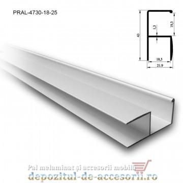 Profil Y mâner vertical aluminiu 18mm lungimea 2,5m