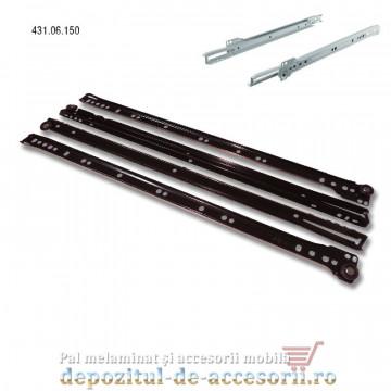 Glisiere cu role 500mm maro extragere parțială Hafele 431.06.150