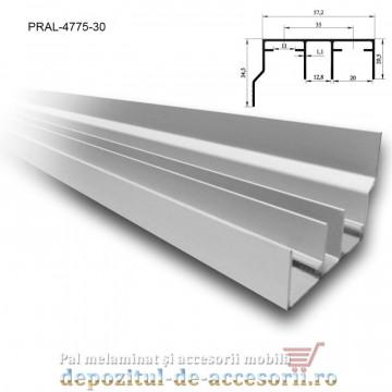 Șină dublă cu acoperire SKM80 AY 3m aluminiu