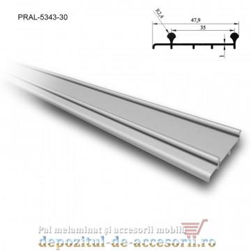 Șină dublă inferioară SKM80 AY 3m aluminiu