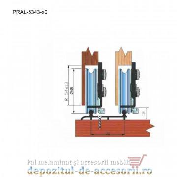 Sina dubla inferioara pentru sisteme SKM80 AY 4m aluminiu