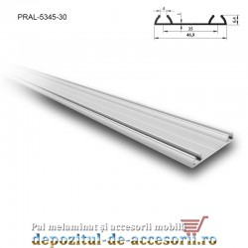 Șină dublă PKM80 M 3m aluminiu