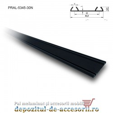 Sina dublă PKM80 M 3m aluminiu negru