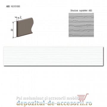 Cant ABS Alb rustic striat 22mm x 2mm compatibil Egger W1000 ST18 Alb Premium