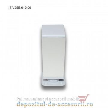 Picior aluminiu H100mm profil patrat 40 x 40mm 17.V25E.010.09 Incoll