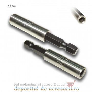 "Adaptor magnetic pentru biti 1/4"" hexagonal (capete surubelnita) Stanley"