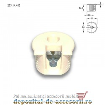 Demontabili Rafix încastrați Ø20mm plastic bej Hafele 263.14.405