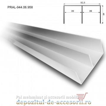 Set sine aluminiu pentru sisteme glisare Adoor 18 ECO Hafele 944.06.958 944.06.857