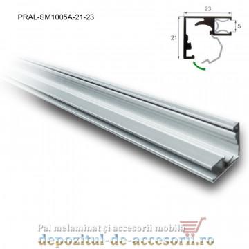 Profil rame aluminiu uși sticlă SM1005A lungimea 3m