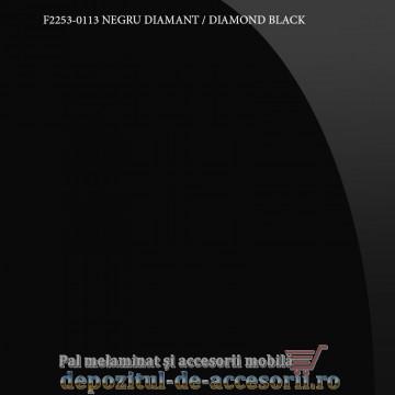 Panou MDF Acrilic Negru diamant super lucios Unilin high gloss