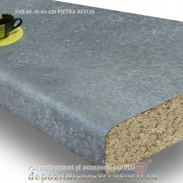 Blat de bucatarie mat PIETRA BETON 38x600x4200mm FAB 63 FAB Grup decor roca