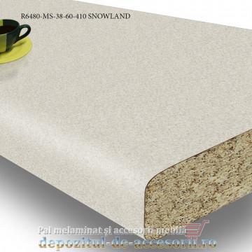 Blat de bucatarie mat neted SNOWLAND 38x600x4100mm Pfleiderer R6480-MS