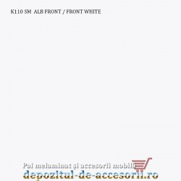 PAL Melaminat ALB FRONT K110 SM grosimea de 16mm Krono
