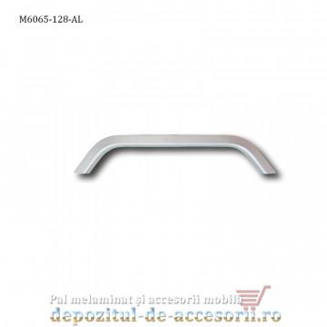 Mâner mobilier Aluminiu M6065-128-AL Satinat