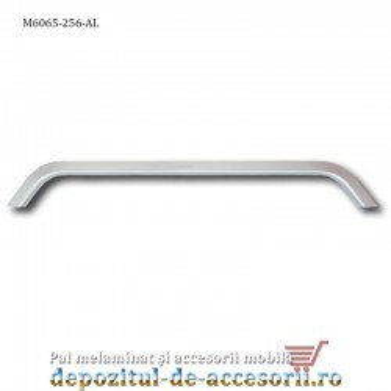 Maner mobilier Aluminiu M6065 256mm Satinat