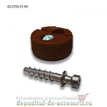 Demontabil de corp cu surub, maro inchis, Blum 42.0700.01