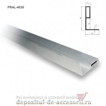 Profil L aluminiu maner vertical 19mm lungimea 2,5m
