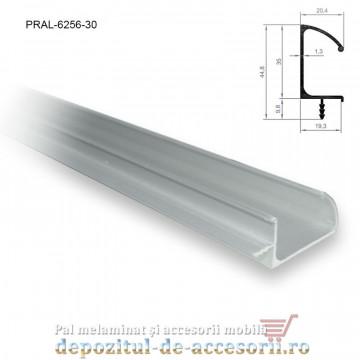 Profil maner vertical C cu bradut, aluminiu, lungimea 3m 6256