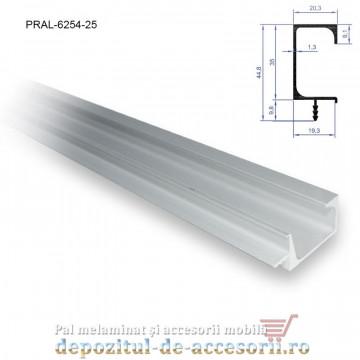 Profil maner G cu bradut, aluminiu, lungimea 2,5m 6254