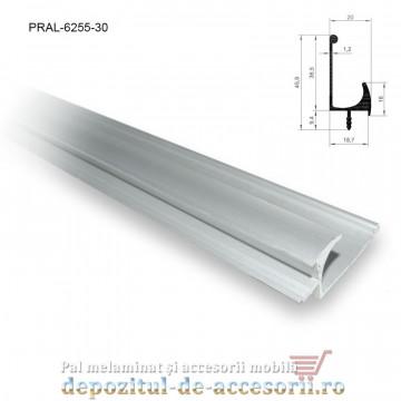 Profil maner J cu bradut, aluminiu, lungimea 3m 6255