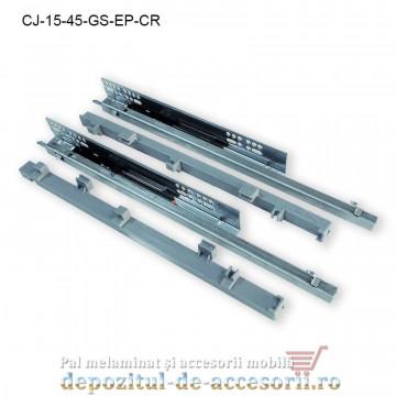 Coș Jolly 100x450mm cromat glisiere Salice extragere parțială