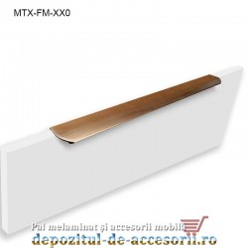 Maner mobilier MTX-MN-400, INOX 400mm sampanie