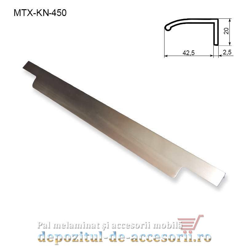MAner mobilier MTX-KN-450, INOX 450mm sampanie