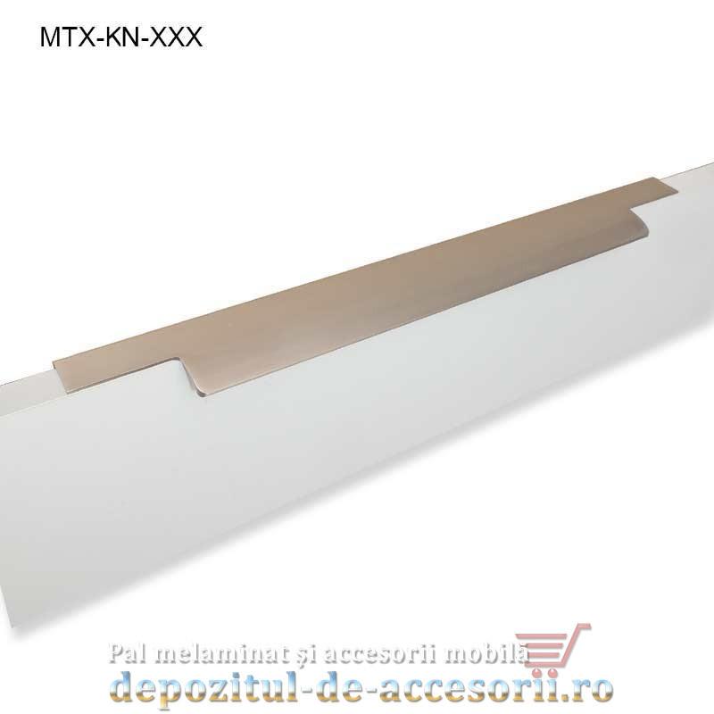 Maner mobilier MTX-MN-600, INOX 600mm sampanie