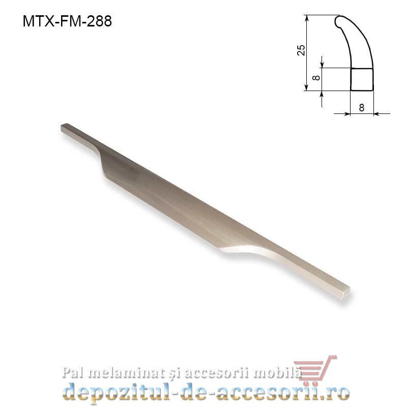 Maner mobilier MTX-FM-288, INOX 288mm sampanie