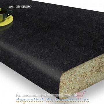 Blat bucatarie NEGRO 2061-QR 38x600x4100mm Swiss Krono