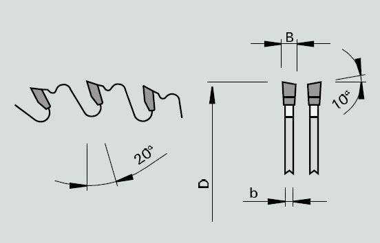 Detalii constructive panza circular pentru lemn D300mm Stehle