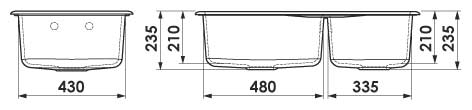 Dimensiuni adâncime cuve chiuveta FAT-213