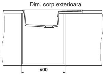 Dimensiuni corp mobilier montaj chiuveta dubla FAT 228