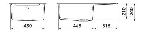 Dimensiuni adâncime cuve chiuveta FAT-228