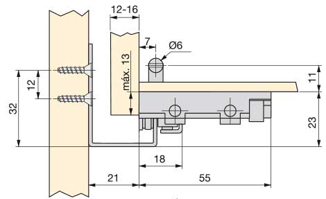 glisiere tip tandem extragere partiala si amortizare la inchidere pentru sertare cu laterale din lemn, cote si dimensiuni