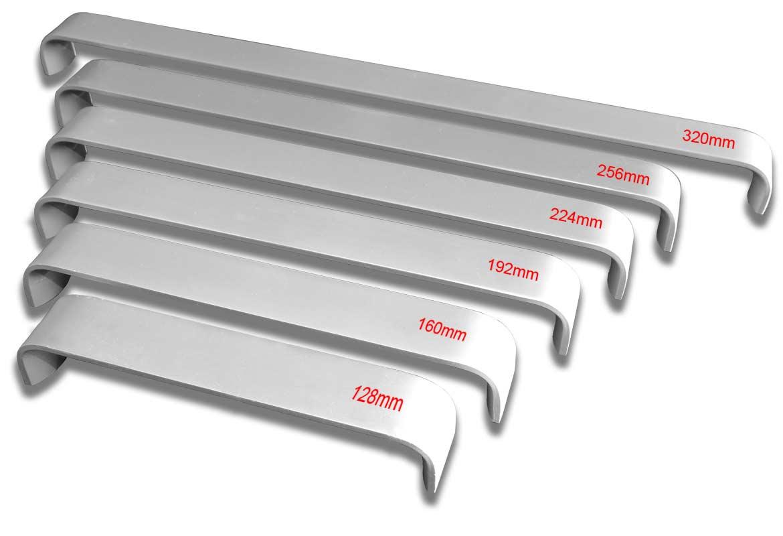 Manere mobilier aluminiu satinat seria M6070 - dimensiuni disponibile